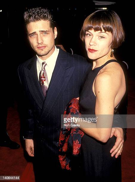 Jason Priestley and Christine Elise at the 51st Annual Golden Globe Awards Beverly Hilton Hotel Beverly Hills