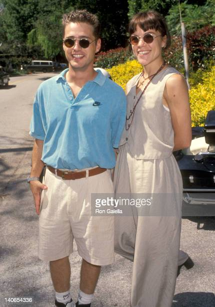 Jason Priestley and Christine Elise at the 5th Annual 'A Time for Heroes' Celebrity Carnival Benefit Elizabeth Glaser Pediatric AIDS Foundation...