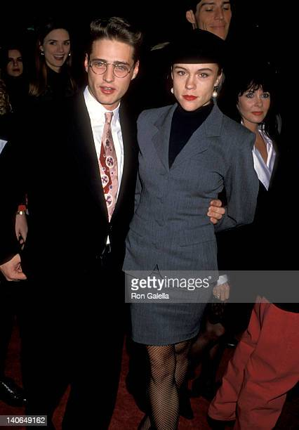 Jason Priestley and Christine Elise at the Premiere of 'Dracula' Mann's Chinese Theatre Hollywood