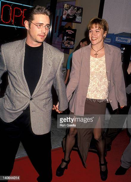 Jason Priestley and Christine Elise at the Premiere of 'Little Women' Mann Culver Plaza 6 Theatres Culver City