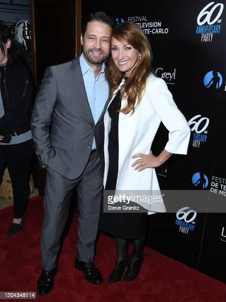 Jason Priestley and Jane Seymour arrives at the HSH Prince Albert II Of Monaco Hosts 60th Anniversary Party For The Monte-Carlo TV Festival at Sunset...