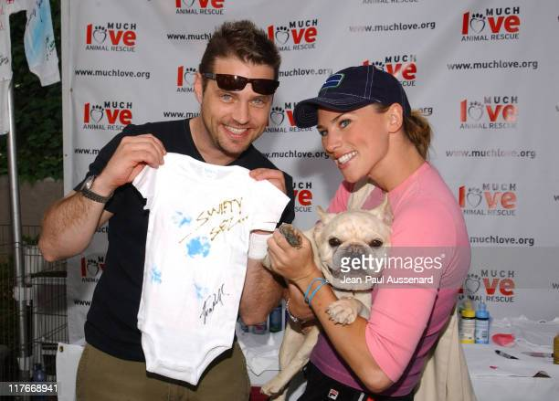 Jason Priestley and Naomi Lowde at Much Love Animal Rescue Photo by JeanPaul Aussenard/WireImage for Silver Spoon