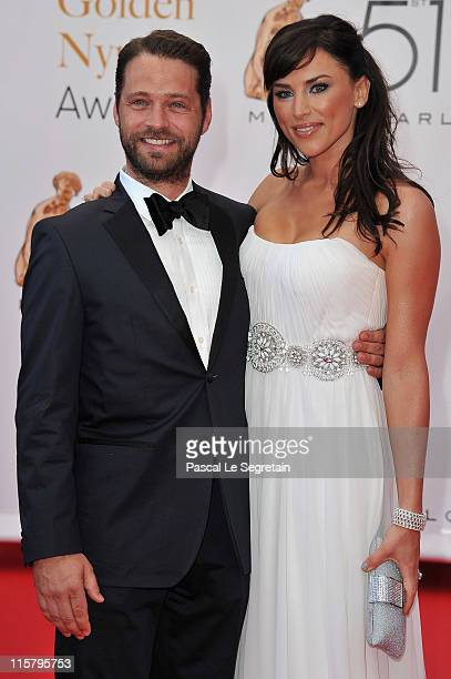 Jason Priestley and Naomi LowdePriestley arrive at the closing ceremony of the 51st Monte Carlo TV Festival at the Grimaldi forum on June 10 2011 in...
