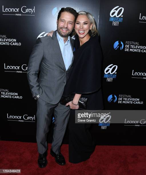 Jason Priestley and Naomi Lowde-Priestley arrives at the HSH Prince Albert II Of Monaco Hosts 60th Anniversary Party For The Monte-Carlo TV Festival...