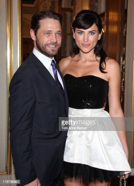 Jason Priestley and Naomi LowdePriestley attend Cocktail Party at Monaco Palace on June 8 2011 in Monaco Monaco