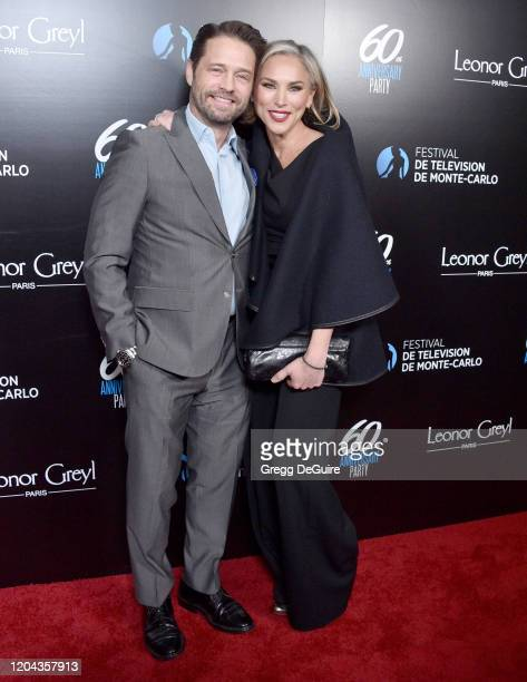 Jason Priestley and Naomi Lowde-Priestley attend the 60th Anniversary Party For The Monte-Carlo TV Festival at Sunset Tower Hotel on February 05,...
