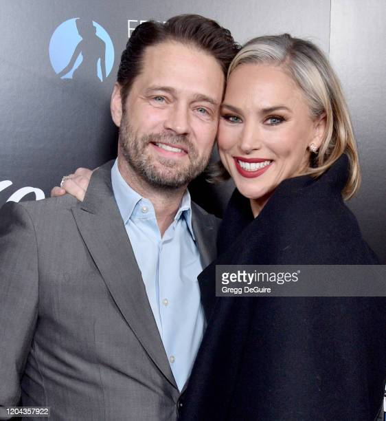 Jason Priestley and Naomi LowdePriestley attend the 60th Anniversary Party For The MonteCarlo TV Festival at Sunset Tower Hotel on February 05 2020...