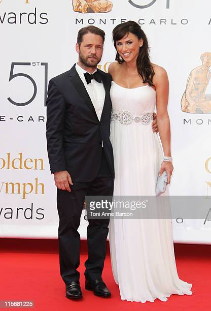 Jason Priestley and Naomi LowdePriestley attend the Closing Ceremony and The Golden Nymph Awards at the Grimaldi Forum on June 10 2011 in Monaco...