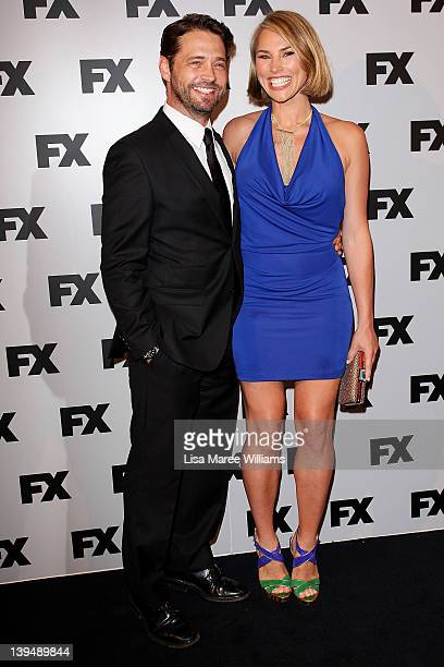 Jason Priestley and Naomi LowdePriestley attend the FX channel launch at Swifts Darling Point on February 22 2012 in Sydney Australia