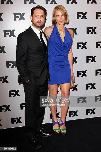 Jason Priestley and Naomi LowdePriestley attend the the FX channel launch at Swifts Darling Point on February 22 2012 in Sydney Australia