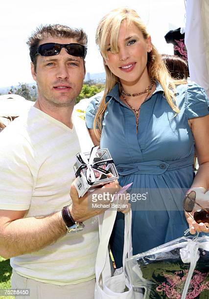 Jason Priestley and wife Naomi LowdePriestley at Aristabrat Photo by Michael Bezjian/WireImage for Silver Spoon