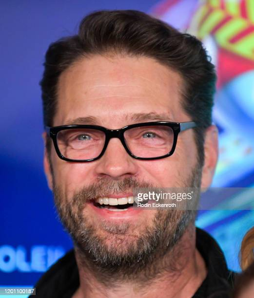 "Jason Priestley attends the LA Premiere of Cirque Du Soleil's ""Volta"" at Dodger Stadium on January 21, 2020 in Los Angeles, California."