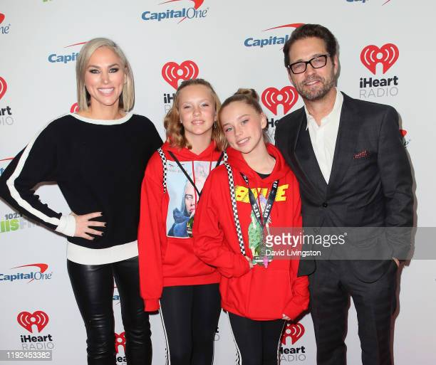 Jason Priestley Naomi LowdePriestley daughter Ava Veronica Priestley and guest attend KIIS FM's Jingle Ball 2019 presented by Capital One at The...