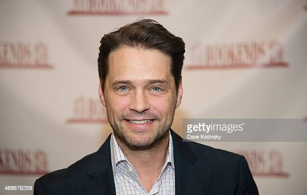Jason Priestley promotes the new book New Book 'Jason Priestley A Memoir' at Bookends Bookstore on May 7 2014 in Ridgewood New Jersey
