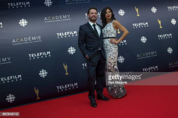 Jason Priestly and Cindy Sampson Canadian Screen Awards red carpet at Sony Centre for the Performing Arts ahead of the show