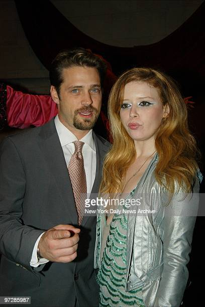 Jason Priestly and Natasha Lyonne get together at a postpremiere party at Laura Belle's for the movie Die Mommie Die They star in the film