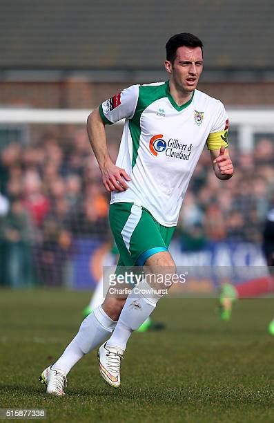 Jason Prior of Bognor during the FA Trophy Semi Final 1st Leg match between Bognor Regis Town and Grimsby Town at Neywood Lane on March 12 2016 in...