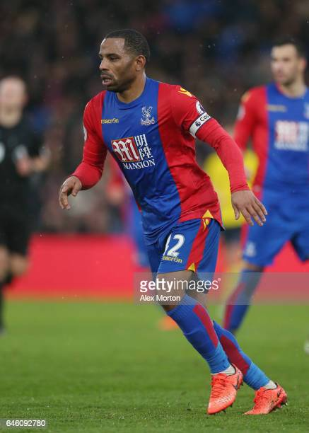 Jason Puncheon of Crystal Palace during the Premier League match between Crystal Palace and Middlesbrough at Selhurst Park on February 25 2017 in...