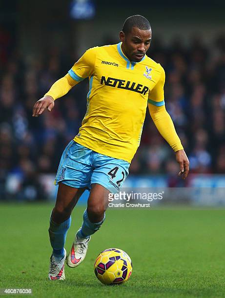 Jason Puncheon of Crystal Palace in action during the Barclays Premier League match between Queens Park Rangers and Crystal Palace at Loftus Road on...