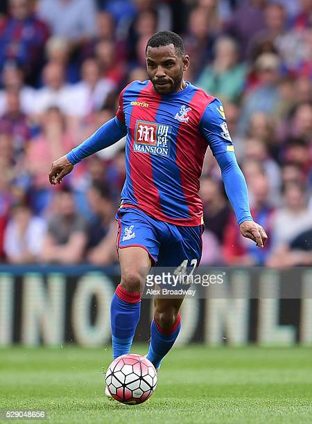 Jason Puncheon of Crystal Palace in action during the Barclays Premier League match between Crystal Palace and Stoke City at Selhurst Park on May 7...