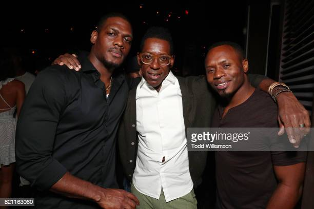 Jason R Moore Orlando Jones and guest at Entertainment Weekly's annual ComicCon party in celebration of ComicCon 2017 at Float at Hard Rock Hotel San...