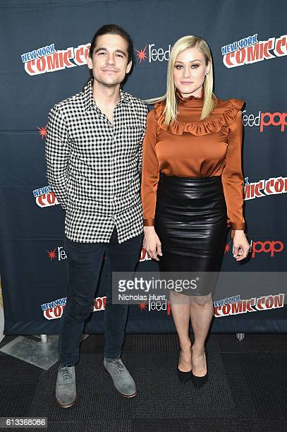 Jason Ralph and Olivia Taylor Dudley attend Syfy the Magicians panel during the 2016 New York Comic Con on October 8 2016 in New York City