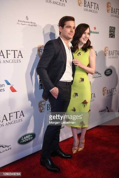 Jason Ralph and Rachel Brosnahan arrive at the BAFTA Los Angeles Tea Party at the Four Seasons Hotel Los Angeles in Beverly Hills on January 05 2019...