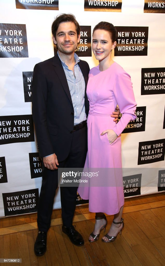 Jason Ralph and Rachel Brosnahan attend the 2018 New York Theatre Workshop Gala at the The Altman Building on April 16, 2018 in New York City