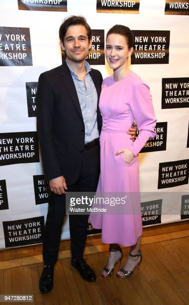 Jason Ralph and Rachel Brosnahan attend the 2018 New York Theatre Workshop Gala at the The Altman Building on April 16 2018 in New York City