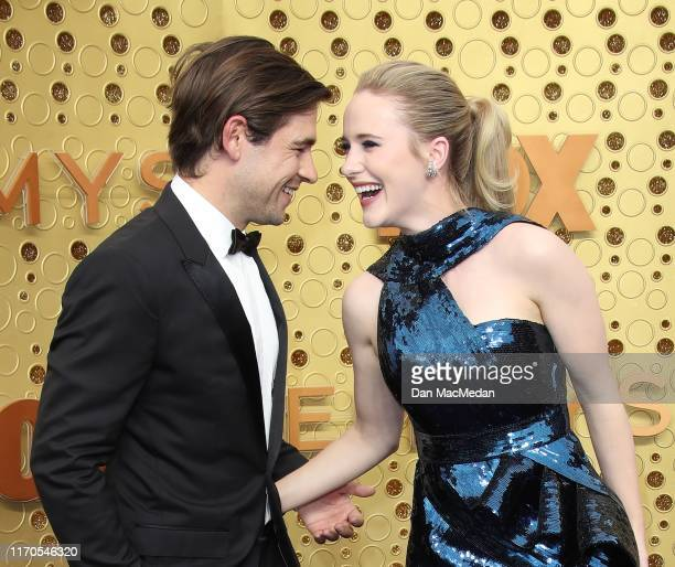 Jason Ralph and Rachel Brosnahan attend the 71st Emmy Awards at Microsoft Theater on September 22 2019 in Los Angeles California
