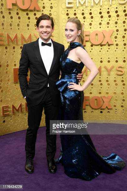Jason Ralph and Rachel Brosnahan attend the 71st Emmy Awards at Microsoft Theater on September 22, 2019 in Los Angeles, California.