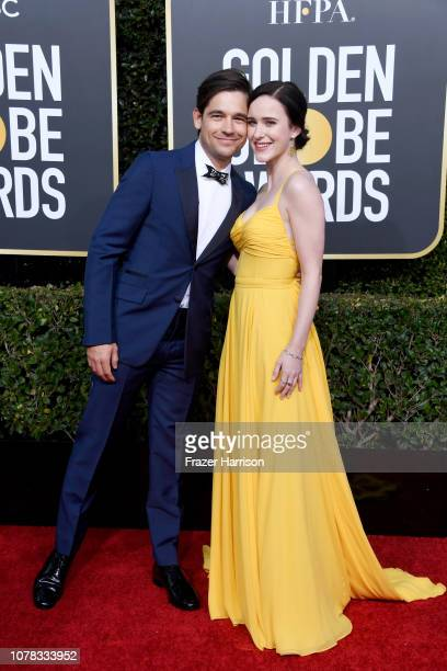 Jason Ralph and Rachel Brosnahan attend the 76th Annual Golden Globe Awards at The Beverly Hilton Hotel on January 6 2019 in Beverly Hills California