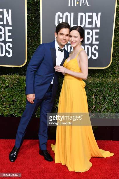 Jason Ralph and Rachel Brosnahan attend the 76th Annual Golden Globe Awards held at The Beverly Hilton Hotel on January 06 2019 in Beverly Hills...