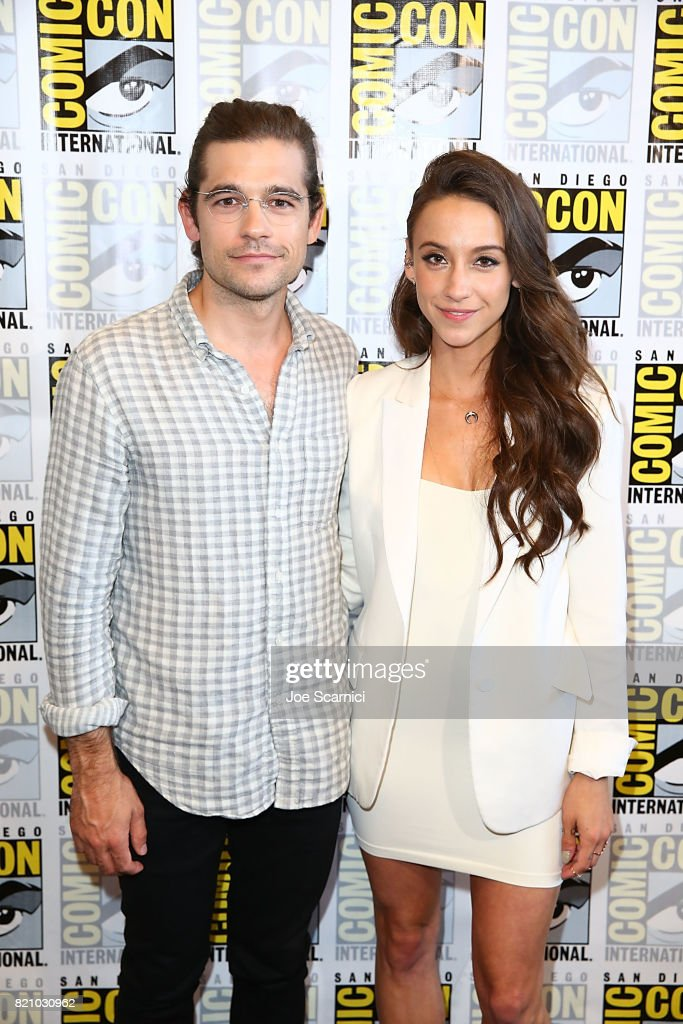 Jason Ralph and Stella Maeve arrive at 'The Magicians' press line at Comic-Con International 2017 on July 22, 2017 in San Diego, California.