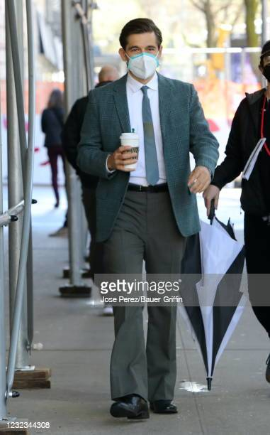 "Jason Ralph is seen on the set of ""The Marvelous Mrs. Maisel"" on April 16, 2021 in New York City."