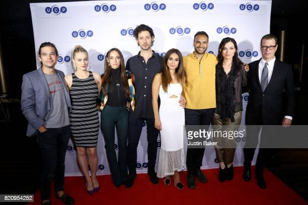 Jason Ralph Olivia Taylor Dudley Stella Maeve Hale Appleman Summer Bishil Sera Gamble and John McNamara from The Magicians attend Universal Cable...
