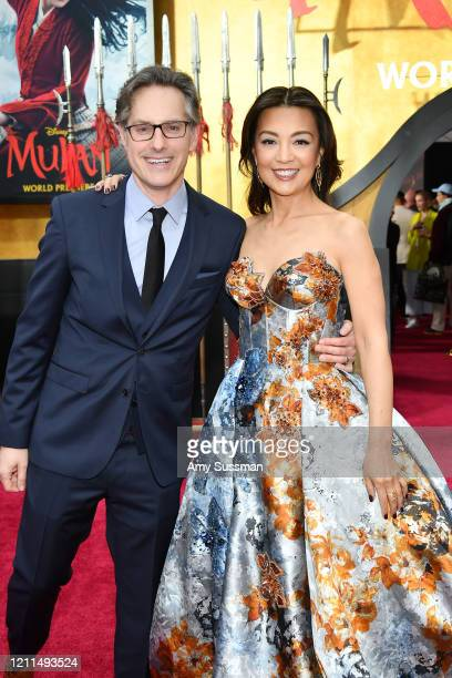 "Jason Reed and Ming-Na Wen attend the premiere of Disney's ""Mulan"" on March 09, 2020 in Hollywood, California."