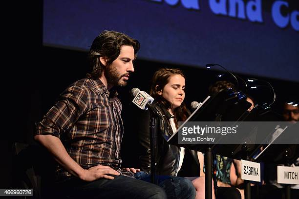 Jason Reitman and Mae Whitman attend the Film Independent at LACMA presents Live Read of 'Dazed And Confused' at Bing Theatre At LACMA on March 19...