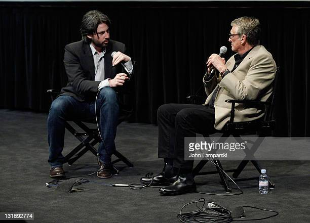 Jason Reitman and Mike Nichols attend the Film Society of Lincoln Center screening of Carnal Knowledge at the Walter Reade Theater on June 12 2011 in...
