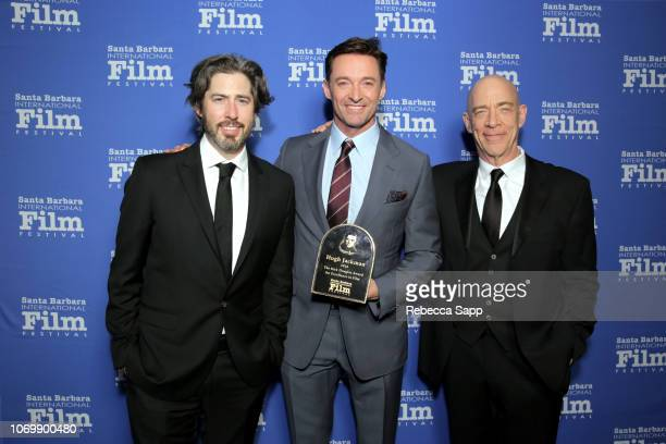 Jason Reitman Hugh Jackman and JK Simmons attend Santa Barbara International Film Festival's Kirk Douglas Award Honoring Hugh Jackman at The...