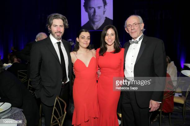 Jason Reitman Liana Maeby Jane Walker Wood and Christopher Lloyd attend Santa Barbara International Film Festival's Kirk Douglas Award Honoring Hugh...