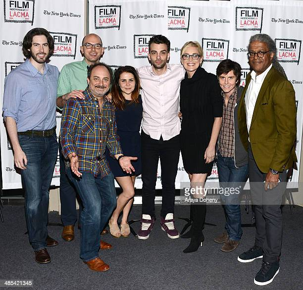 Jason Reitman Paul Scheer Kevin Pollak Mae Whitman Jay Baruchel Sharon Stone Tig Notaro and Elvis Mitchell attend the Film Independent At LACMA live...
