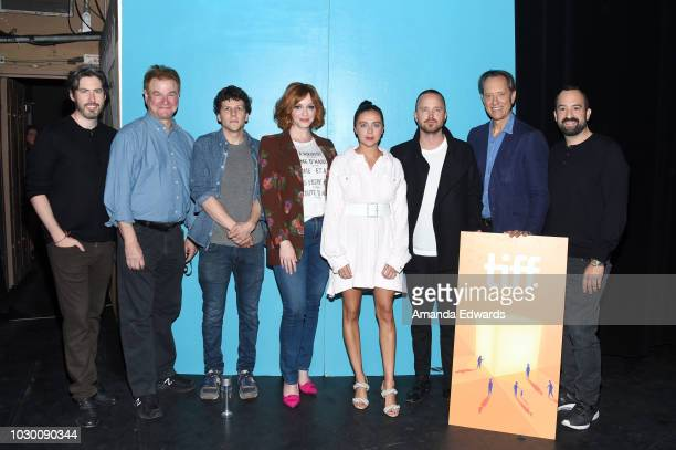 Jason Reitman, Robert Wuhl, Jesse Eisenberg, Christina Hendricks, Bel Powley, Aaron Paul, Richard E. Grant and Steve Zissis attend Jason Reitman's...