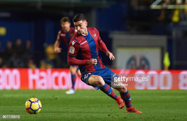 Jason Remeseiro of Levante Union Deportiva during the La Liga match between Villarreal CF and Levante Union Deportiva at Estadio de la Ceramica on...