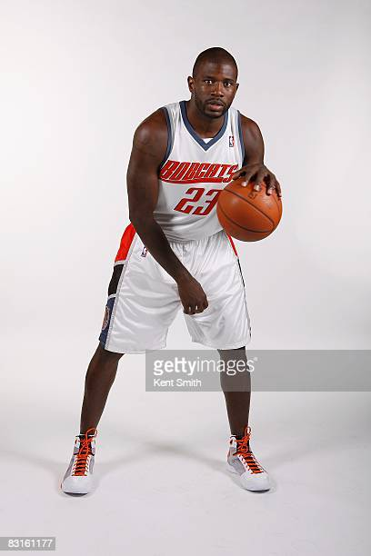 Jason Richardson of the Charlotte Bobcats poses for a portrait during NBA Media Day on September 29 2008 at Time Warner Cable Arena in Charlotte...