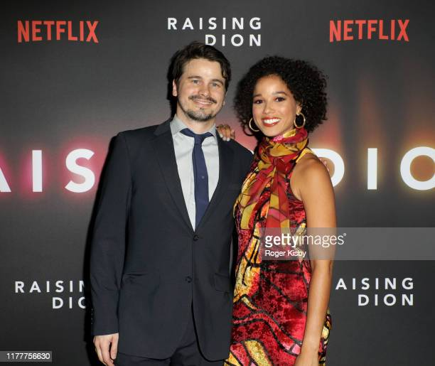 "Jason Ritter and Alisha Wainwright attend the Netflix ""Raising Dion"" Special Screening at Netflix on September 28 2019 in Los Angeles California"