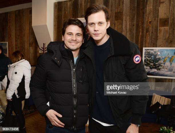 Jason Ritter and Bill Skarsgård attend as Grey Goose Blue Door hosts the casts of gamechanging films during the Sundance Film Festival at The Grey...