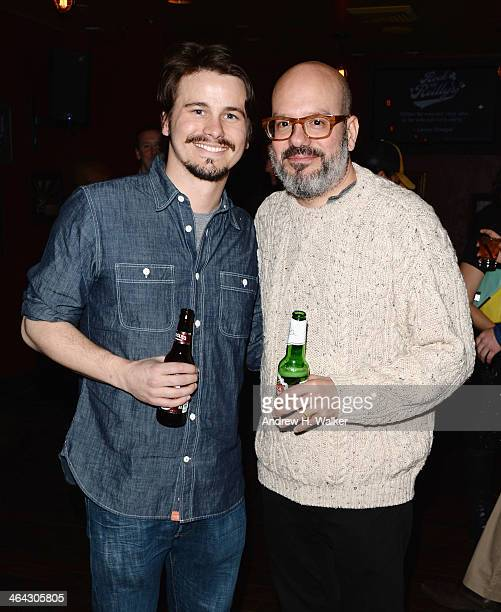 Jason Ritter and David Cross attend the Hits official after party at Rock Reilly' on January 21 2014 in Park City Utah
