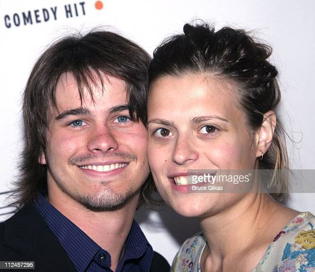 """Jason Ritter and Marianna Palka during """"Hairspray"""" Opening Night Los Angeles - Arrivals at Pantages Theater in Hollywood, California, United States."""