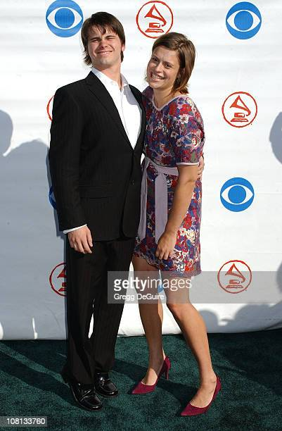 Jason Ritter and Marianna Palka during The 5th Annual Latin GRAMMY Awards Arrivals at Shrine Auditorium in Los Angeles California United States